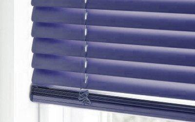 Stores vénitiens aluminium bleus