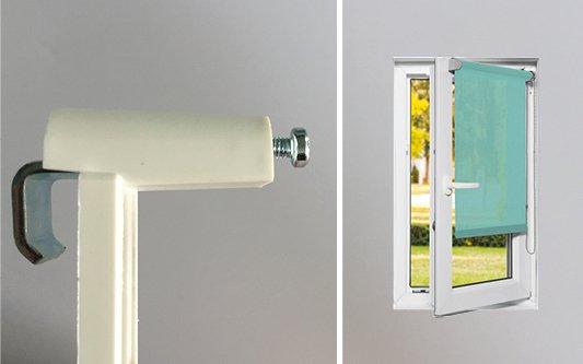 Fixations sans perçage pour fenêtre PVC