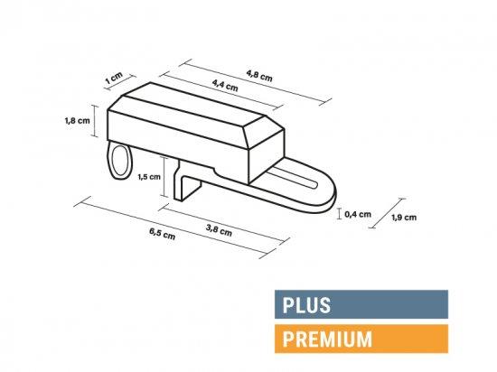 Dimensions supports sans perçage Plus et Premium