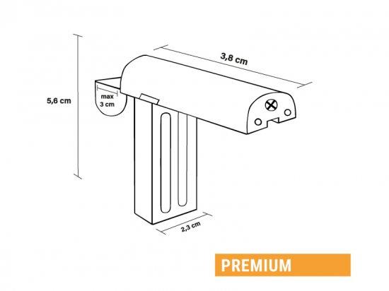 Dimensions supports sans perçage Premium