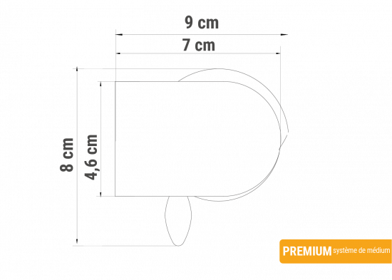 En façade tube moyen