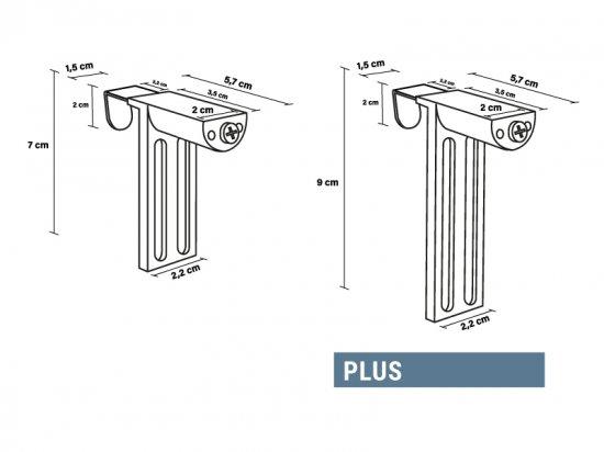 Dimensions supports sans perçage Plus