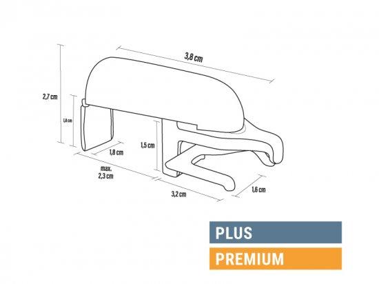 Dimensions supports sans perçage Plus Élégance et Premium Élégance