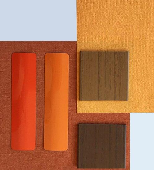 Des couleurs chaudes et des stores vénitiens en aluminium ou des stores bateaux