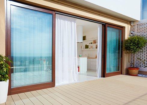 Décorations de fenêtre pour baies vitrées