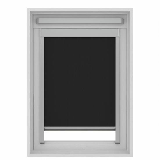 Store enrouleur pour fenêtre de toit noir - SK06