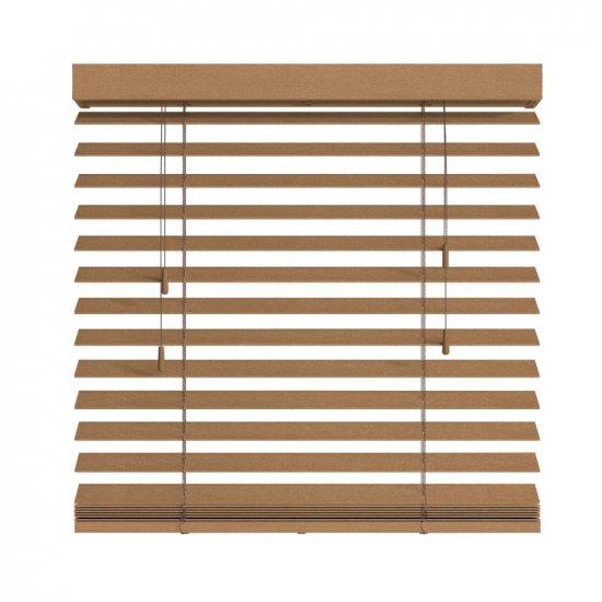 Store vénitien bois chêne clair avec cordon