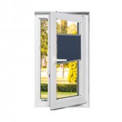 Store plissé fenêtres oscillo-battantes tamisant bleu nuit