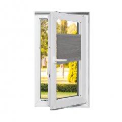 Store plissé fenêtres oscillo-battantes occultant gris souris