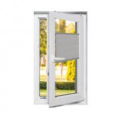 Store plissé fenêtres oscillo-battantes occultant gris frais