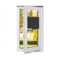 Store plissé fenêtres oscillo-battantes occultant gris graphite