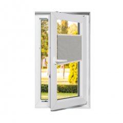 Store plissé fenêtres oscillo-battantes occultant blanc perle