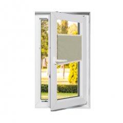 Store plissé fenêtres oscillo-battantes occultant beige crème