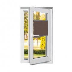 Store plissé fenêtres oscillo-battantes occultant gris marron brillant