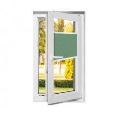Store plissé fenêtres oscillo-battantes occultant vert sauge
