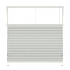 Store plissé blanc de craie occultant commande cordon