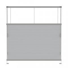 Store plissé gris clair occultant commande cordon